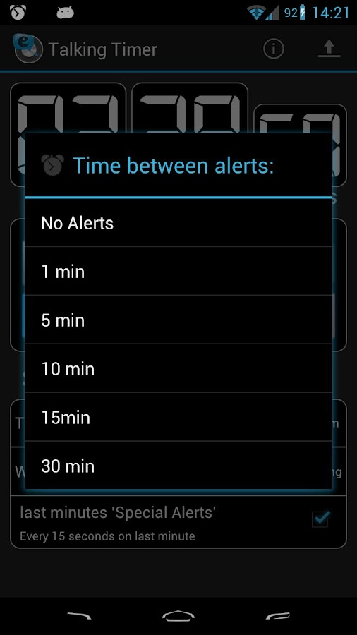 Talking Timer- screenshot