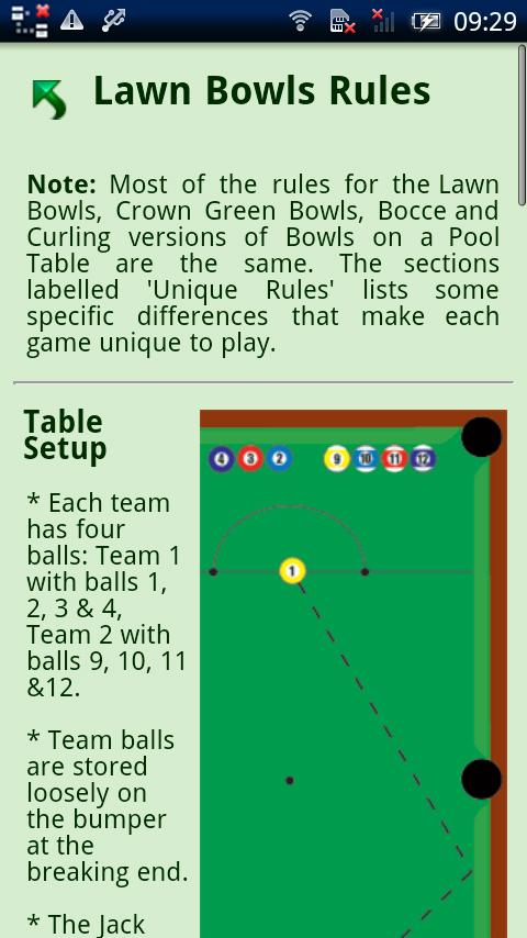 Sport on a Pool Table Rules- screenshot