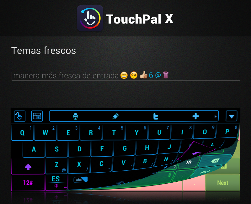 TouchPal X Keyboard v5.4.6 [Android] [Full], Excelente ...