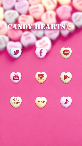 玩免費個人化APP 下載可爱的换肤壁纸★Candy Hearts app不用錢 硬是要APP