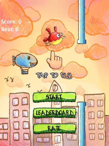 【免費休閒App】压扁小鸟-APP點子