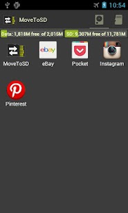 MoveToSD - move apps to SDCard- screenshot thumbnail