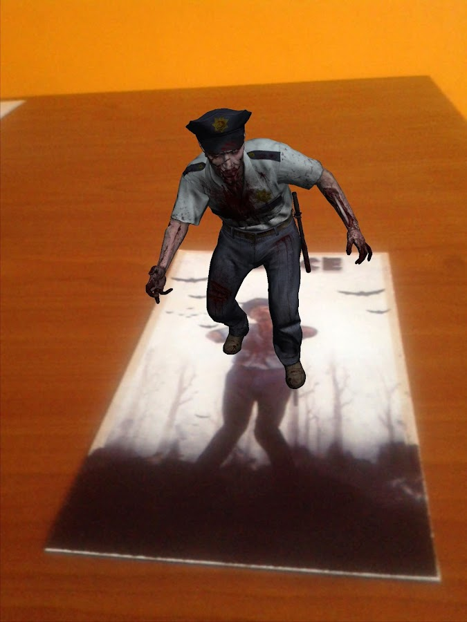 TableZombies Augmented Reality - screenshot
