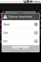 Screenshot of セクシーボイス発生器