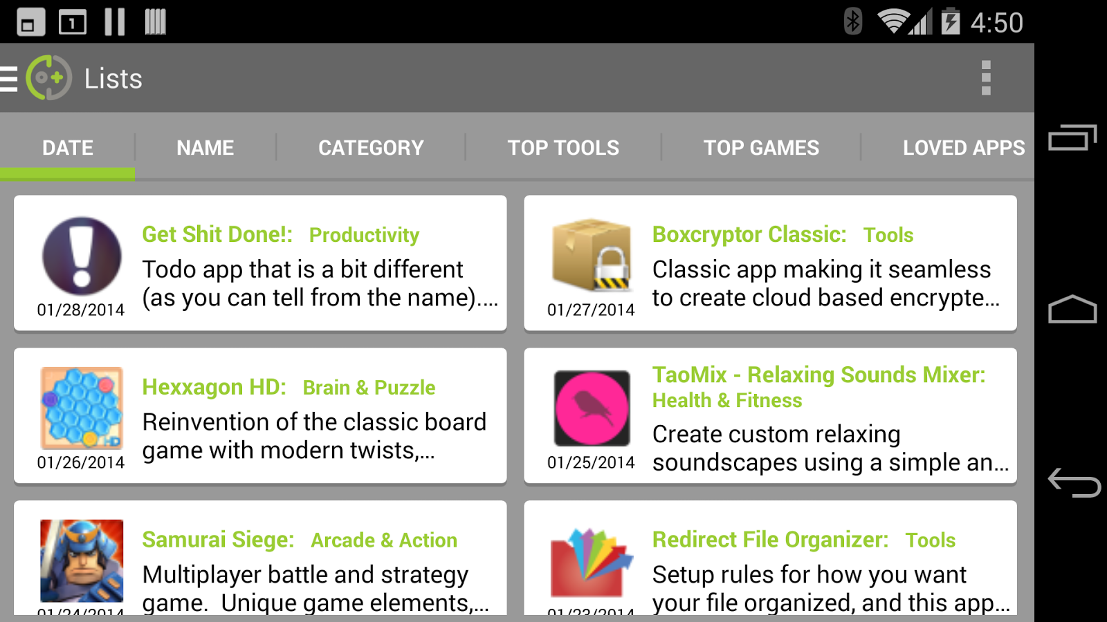 DOTD - Best App Catalog - screenshot