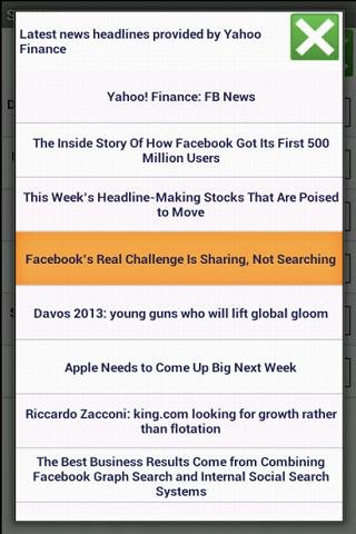 Stock News - screenshot