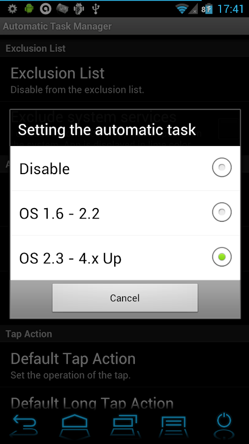 Automatic Task Killer Manager - screenshot
