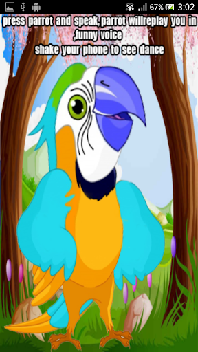 Parrot talking back