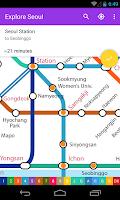 Screenshot of Explore Seoul Subway map