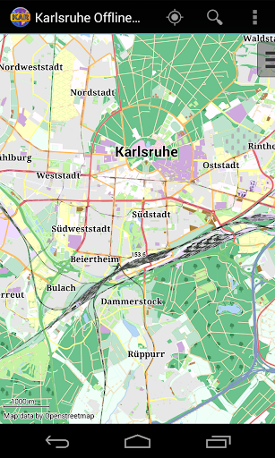 Karlsruhe Offline City Map