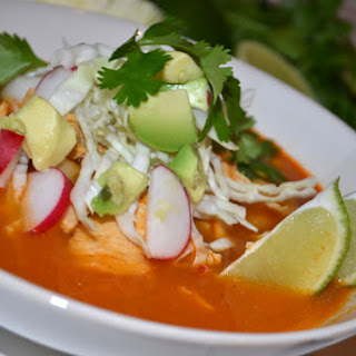 Chicken Pozole (Rojo)