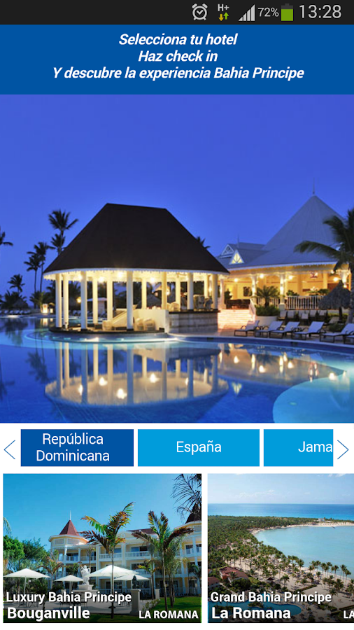 Bahia Principe Hotels- screenshot