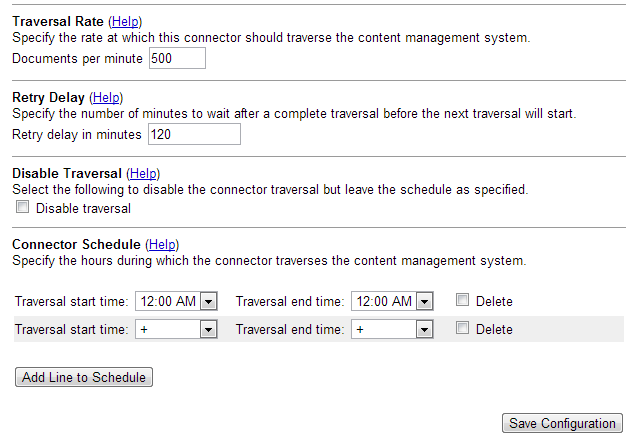 File system configuration traversal settings