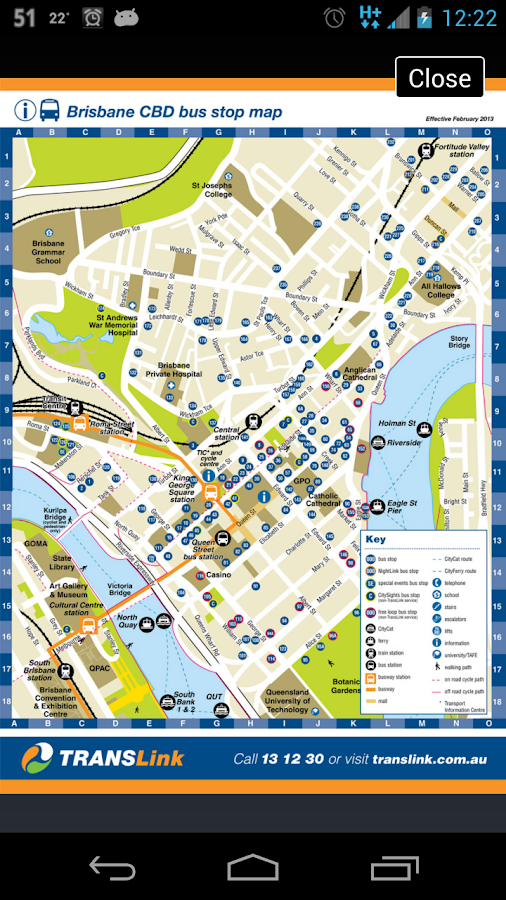 Brisbane TransLink Planner - screenshot
