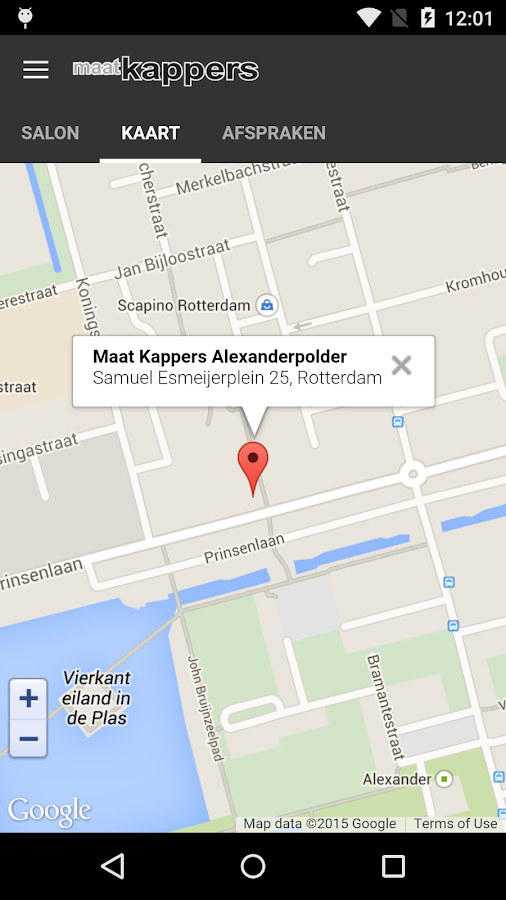 Maatkappers- screenshot
