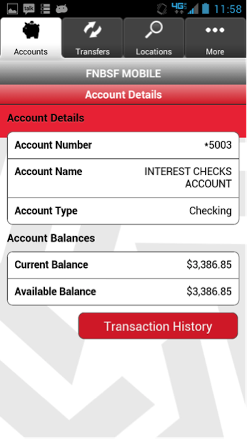 FNBSF Mobile Banking - screenshot