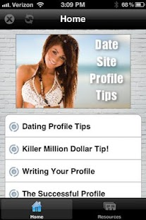 Dating site profile tips