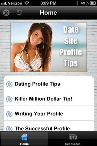 Guys Date Site Profile Tips- screenshot