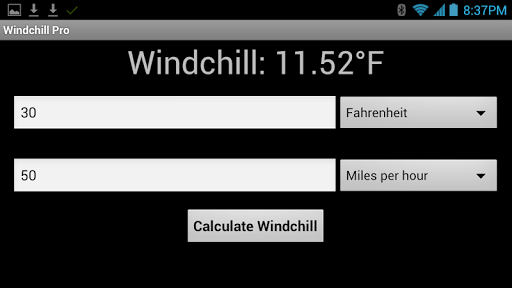 Windchill Calculator Pro