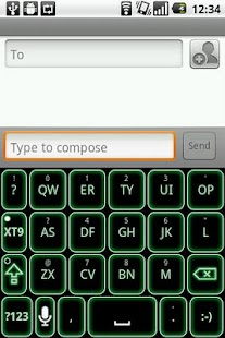 Green Glow Code Keyboard Skin - screenshot thumbnail