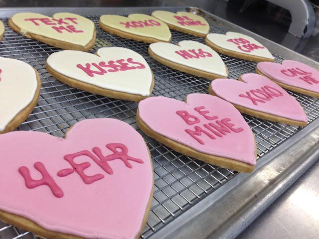 Valentine's Shortbread conversation hearts!