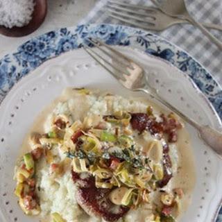 Pork Steaks On Cauliflower Mash