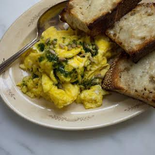 Super-eggy Scrambled Eggs.