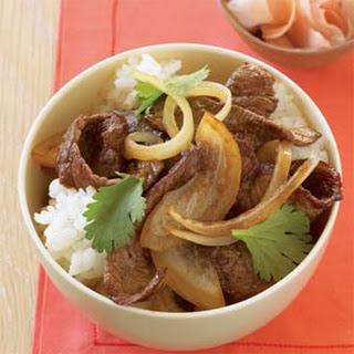Japanese Beef Bowl.