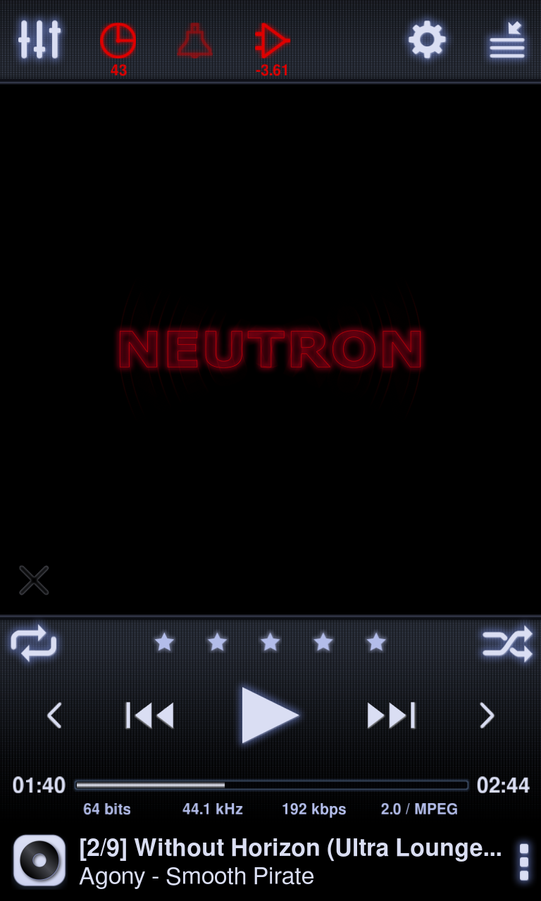 Neutron Music Player screenshot #1