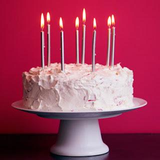 Strawberry Buttercream Birthday Cake