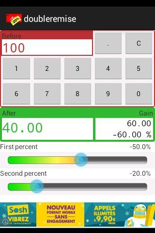 Calculatrice pour soldes