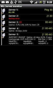Servers monitor - screenshot thumbnail