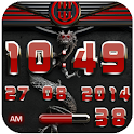 dragon digital clock red icon