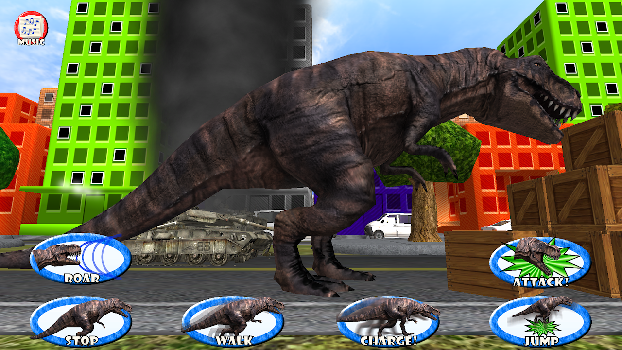 Dinosaur roar rampage kids 3d android apps on google play 3d apps free