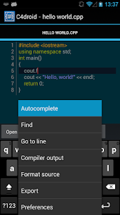 C4droid - C/C++ compiler & IDE- screenshot thumbnail