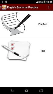 English Grammar Practice - screenshot thumbnail