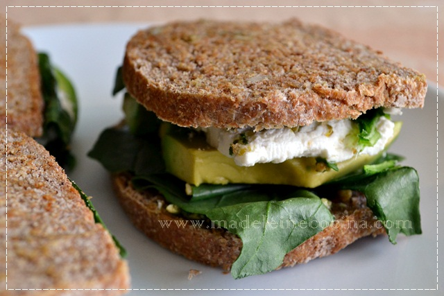Spinach, Avocado, and Goat Cheese Sandwich Recipe