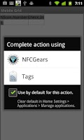 Screenshot of NFC Gears