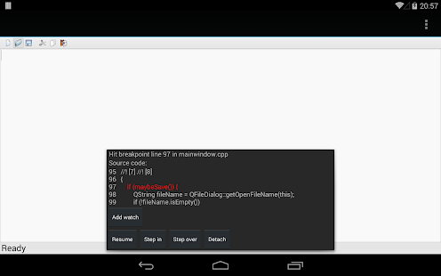 C4droid - C/C++ compiler & IDE - screenshot thumbnail