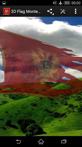 3D Flag Montenegro LWP