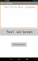 Screenshot of Text zu Sprache