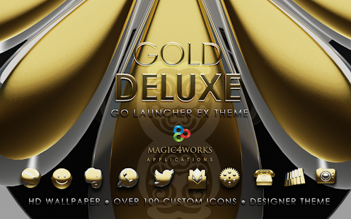 GO Launcher theme Gold Deluxe