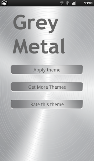 Grey Metal Keyboard Theme