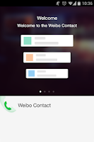 Screenshot of weibo contact