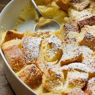 Eggnog Breakfast Bread Pudding