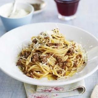 Ragu Di Manzo With Spaghetti.