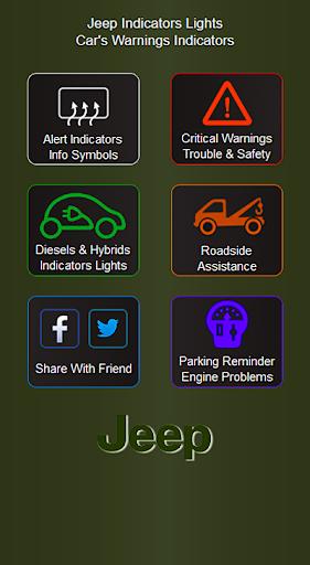 Jeep Cars Indicators Lights