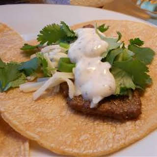 Steak Tacos with Spicy Yogurt Sauce.