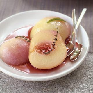 White Peaches with Lemon Verbena.