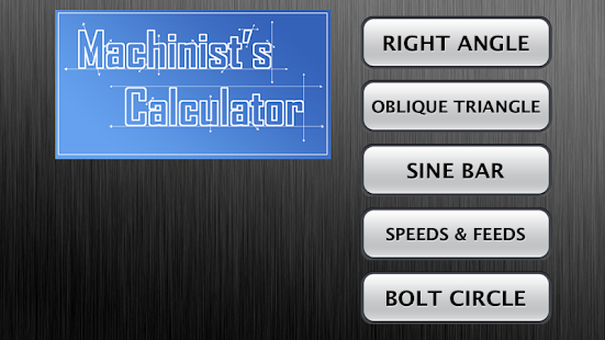 Machinist's Calculator - screenshot thumbnail